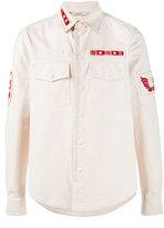 Valentino badge appliqué shirt
