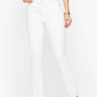 Talbots High-Waist Straight-Leg Jeans - Curvy Fit - White