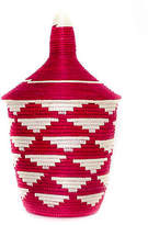 "All Across Africa 11"" Cathedral Tall Basket - Fire Red/White"