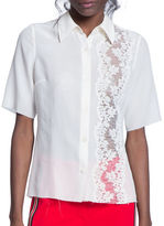 Tracy Reese Petal Lace-Inset Shirt