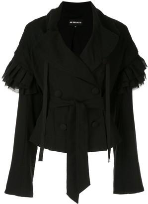 Ann Demeulemeester ruffled sleeves jacket