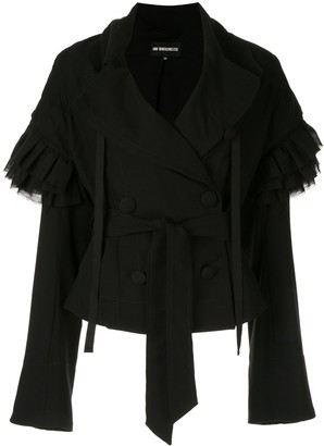 Ann Demeulemeester Ruffled Sleeves Jacket