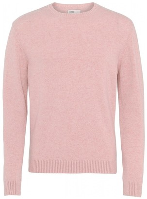 Colorful Standard - COLORFUL STANDARD FADED PINK CLASSIC CREW MERINO WOOL KNIT - XSMALL
