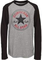 Converse Boys Chuck Patch Raglan T-Shirt Vintage Grey Heather