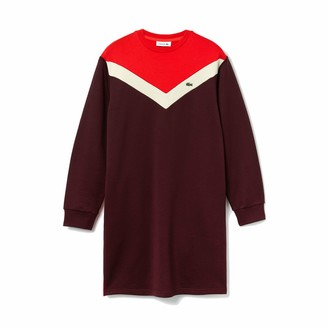 Lacoste Women's Long Sleeve French Terry Colorblock Dress