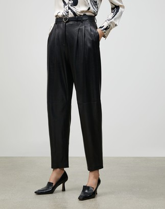 Lafayette 148 New York Supple Nappa Leather Vestry Pant