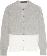 Marc by Marc Jacobs Papillon crochet knit-paneled marled cotton cardigan