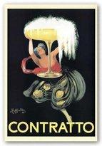 """McGaw Graphics Contratto by Leonetto Cappiello 36""""x24"""" Art Print Poster"""