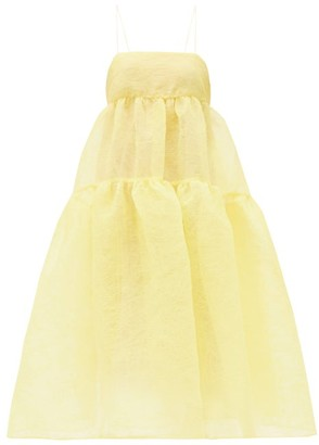 Cecilie Bahnsen Sofie Tiered Plisse-organza Dress - Yellow