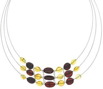 Nature d'Ambre Multi-Strand Chain 925 Silver Length 43 cm Amber 31710172