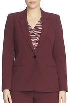 Chaus Long Sleeve One Button Blazer