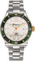 Salvatore Ferragamo 43mm 1898 Sport Men's Bracelet Watch, Green