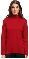 Pendleton L/S Mock Neck Cotton Rib Tee Women's Long Sleeve Pullover
