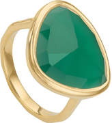 Monica Vinader Siren 18ct-gold plated green onyx ring