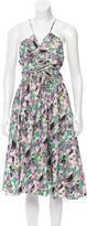 Suno Abstract Print Cutout Dress w/ Tags