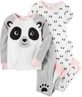 Carter's Girls 4-14 Panda Tops & Bottoms Pajama Set