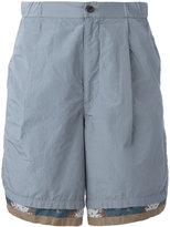 Kolor patterned trim shorts