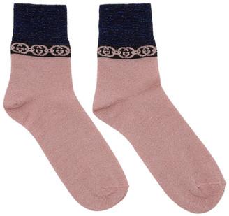 Gucci Pink Interlocking G Socks