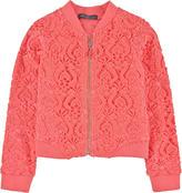 Miss Blumarine Full zip lace sweatshirt