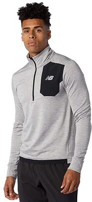 New Balance Impact Run Grid Back 1/2 Zip (Athletic Grey) Men's Clothing
