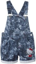Hello Kitty Overalls (Toddler) - Acid Wash-4T