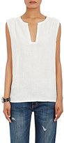 Barneys New York Women's Linen Sleeveless Top-WHITE