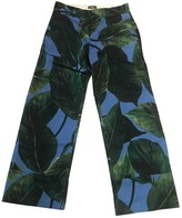 Altea Turquoise Cotton Trousers for Women