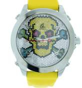 Jacob & co Five Time Zone Diamond Pave Skull Unisex Watch