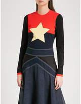 Diane von Furstenberg Star-intarsia wool-blend jumper