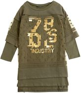 Diesel Cotton Jersey & Devore Tulle Dress