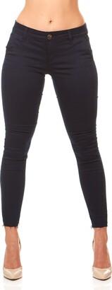 V.I.P. JEANS Women's Cute Slant Pocket Skinny Pant Trousers Work or Casual