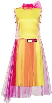 Prada Tulle And Silk Satin Dress