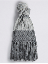 M&S Collection Colour Block Cable Scarf