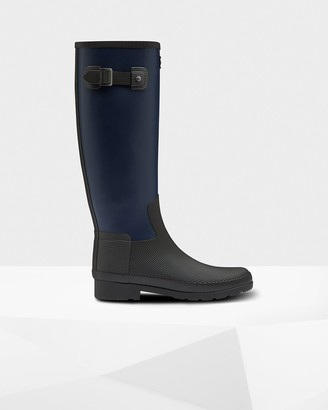 Hunter Women's Refined Texture Block Slim Fit Tall Wellington Boots