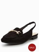Wallis Butterscotch Slingback Snaffle Loafer