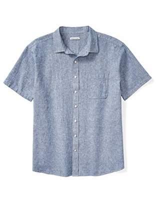 Amazon Essentials Men's Big-Tall Big & Tall Short-Sleeve Linen Cotton Shirt Shirt