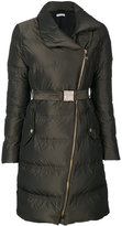 Versace zipped down coat - women - Feather Down/Polyester/Goose Down - 40
