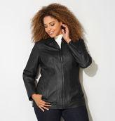 Avenue Stitched Faux Leather Jacket
