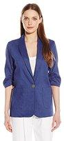 Karen Kane Women's Ruched Sleeve Jacket