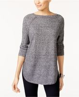 Style and Co Petite Lace-Up-Trim Sweater, Created for Macy's