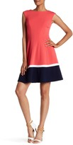 Sandra Darren Sleeveless Solid Colorblock Dress