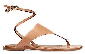 Vince Women's Eastwood Ankle-Wrap Leather Thong Sandals