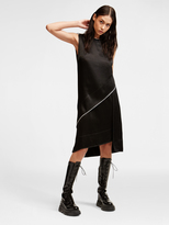 DKNY Raw Edge Satin Panel Dress