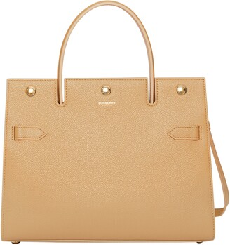 Burberry Small Title Leather Tote