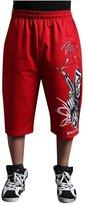 EGELBEL Men's Punk Style Skull Printed Casual Sports Capri Pants