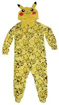 Pokemon Pikachu Boys Union Suit Pajamas 4-16 (M )