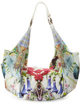 Camilla Embellished Soft Beach Bag, Exotic Hypnotic