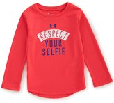 Under Armour Little Girls 2T-6X Respect Your Selfie Long-Sleeve Tee