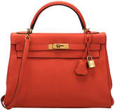 One Kings Lane Vintage Hermès 32cm Feu Togo Kelly Bag