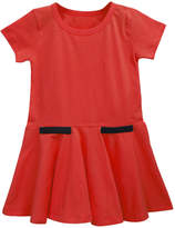 A.T.U.N. Ruffle Skirt Cotton Dress - Red, Size 9-10y